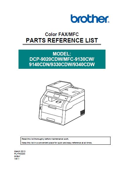 Parts Reference List