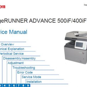 Image Runner - Service Manual