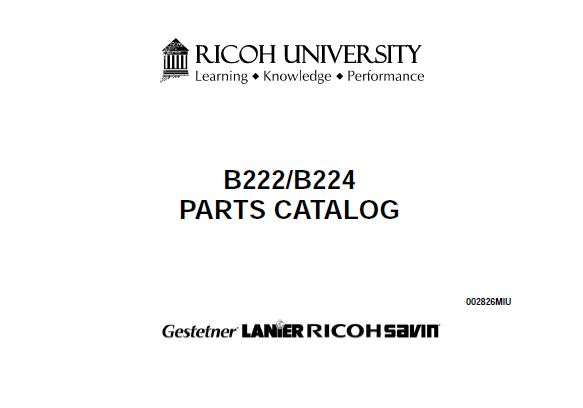 Ricoh Parts Catalog - Clear Choice Technical Services