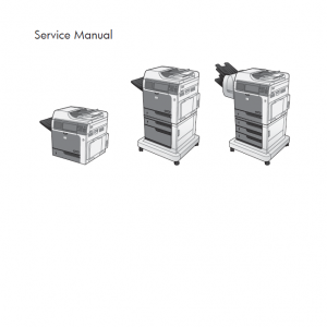 HP Color LaserJet Enterprise CM4540 MFP Service Manual with Parts Manual