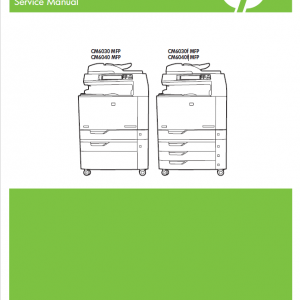 HP Color LaserJet CM6030 and CM6040 MFP Series Service Manual with Parts Manual