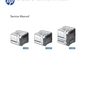 HP LaserJet Enterprise 500 Color M551 Series Service Manual with Parts Manual