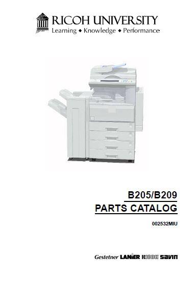 Ricoh Parts Catalog - Clear Choice Technical Services