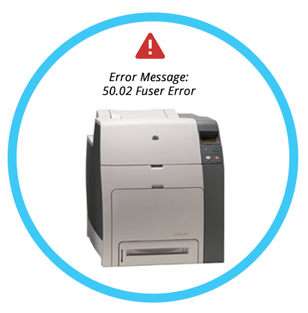 Error Message- 50.02 Fuser Error